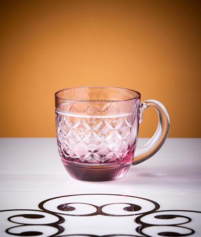 Starlight Glass Mug in Red