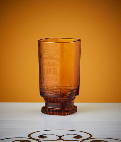 Bacha Iced Coffee Glass in Amber