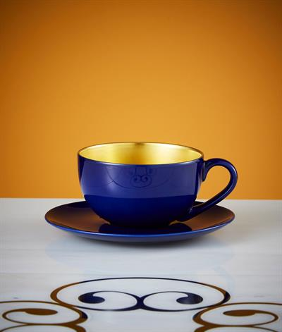 Desire Coffee Cup And Saucer in Blue And Gold