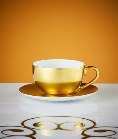 Desire Coffee Cup And Saucer in Gold