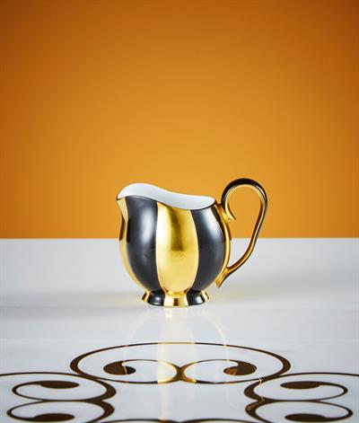 Hoffmann Creamer in Black And Gold