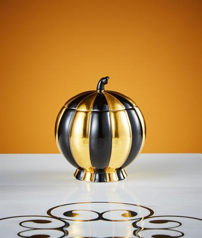 Hoffmann Sugar Bowl in Black And Gold