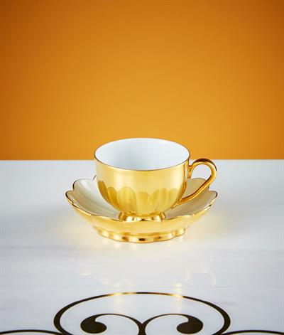 Hoffmann Coffee Cup And Saucer in Gold