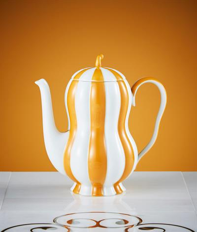 Hoffmann Coffee Pot in Orange And White