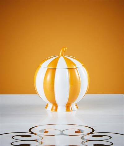 Hoffmann Sugar Bowl in Orange And White