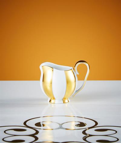 Hoffmann Creamer in White And Gold
