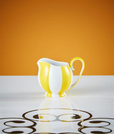 Hoffmann Creamer in Yellow And White