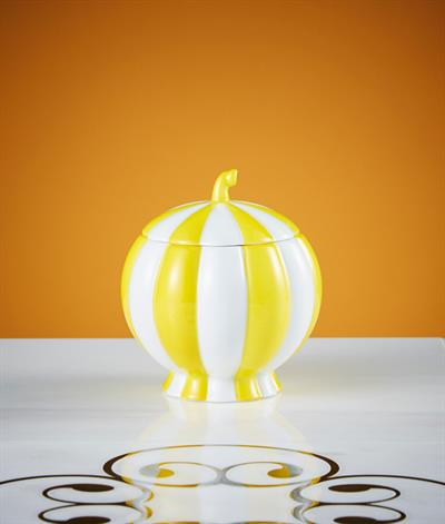 Hoffmann Sugar Bowl in Yellow And White