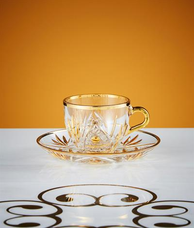 Kasbah Coffee Cup And Saucer in Glass