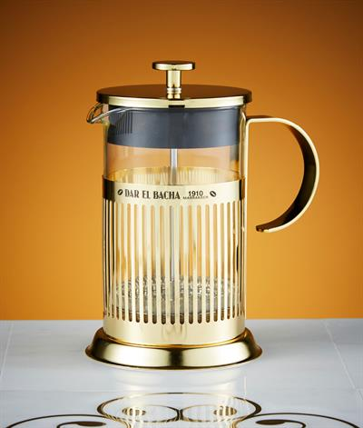 Large Parisian Press Coffee Pot in Gold