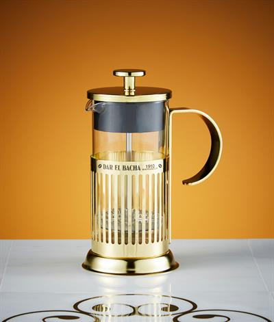 Small Parisian Press Coffee Pot in Gold