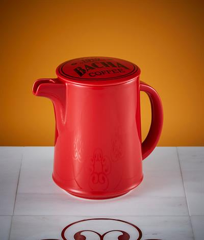 Signore Coffee Pot And Lid in Red