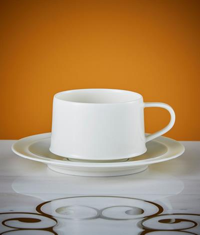 Signore Coffee Cup And Saucer in White