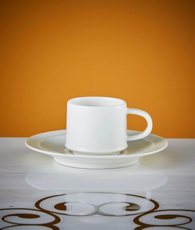 Signore Espresso Cup And Saucer in White